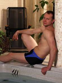 Kąpielówki Marko David czarno-ciemno niebieskie