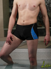 Kąpielówki Marko Andy czarne z niebieskim