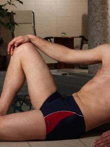 Kąpielówki Marko Andy granatowe z bordo