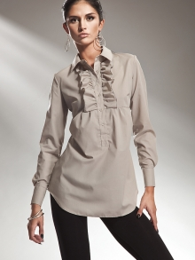 Koszula Nife k29 Beżowa