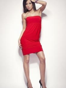 Sukienka OnaStyl Saly czerwona