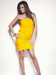 Sukienka OnaStyl Saly żółta